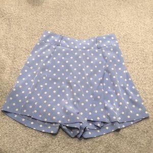 Pants - Baby Blue Polka-Dot Skort S-M